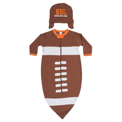 Sozo Football Bunting and Cap Set in Brown