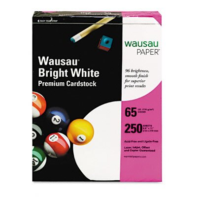 Wausau Papers Card Stock, 65 Lbs., 8-1/2 X 11, 250 Sheets/Pack