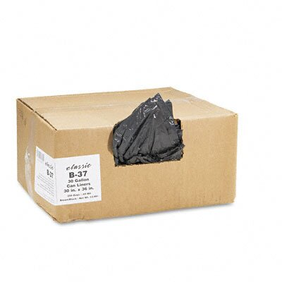 Webster Industries Classic 2-Ply Low-Density Can Liners, 30Gal, 0.6Mil,30 X 36, 250/Carton