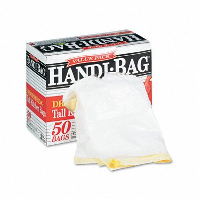 Webster Industries Handi-Bag Super Value Pack Trash Bags, 13 Gallon, .69 Mil, 24 X 27-3/8, 50/Box