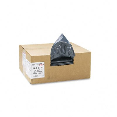 Webster Industries Platinum Plus Can Liner, Super Hexene Resin 30 Gal, 1.35 Mil, 30 X 36,100/Carton