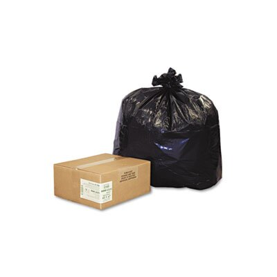 Webster Industries Earthsense Commercial Recycled Can Liners, 56-Gal., 2.0 Mil, 43 X 47, 100/Carton