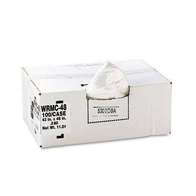 Webster Industries Classic Low-Density Can Liners, 56 Gal, .8 Mil, 43 X 48, 100/Carton