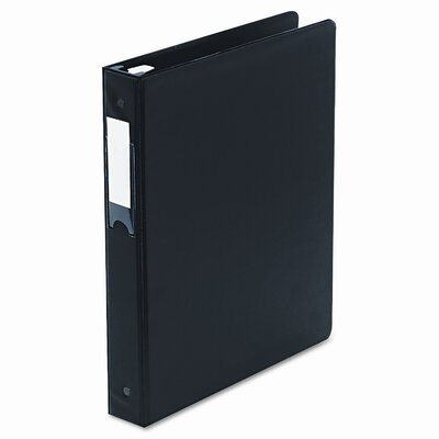 Wilson Jones Locking No-Gap Round Ring Binder w/Label Holder, 1in Cap