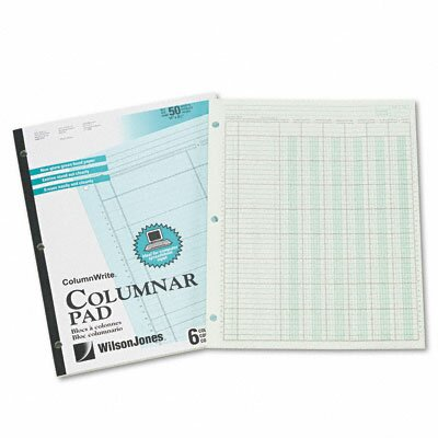 Wilson Jones Accounting Pad, Six Six-Unit Columns, 8-1/2 X 11, 50-Sheet Pad
