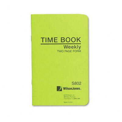 Wilson Jones Foreman'S Time Book, Week Ending, 4-1/8 X 6-3/4, 36-Page Book