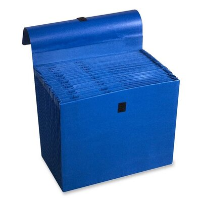 Wilson Jones Expanding File, 31 Pockets, Labeled 1-31, 10&quot;x12&quot;, Dark Blue