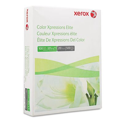 Xerox® Color Xpressions Elite Paper, 100 Brightness, 28Lb, 8-1/2 X 11, 500 Sheets/Ream