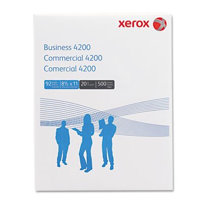 Xerox® 4200 Business Office Paper, 92 Bright, 20lb, Letter, 5,000 Sheets/Carton