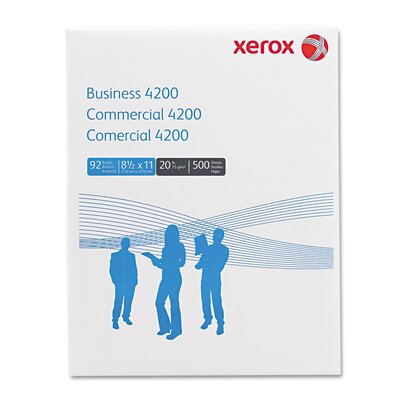 Xerox® Business 4200 Copy/Print Paper, 92 Bright, 20Lb, Letter, 500 Sheets/Ream