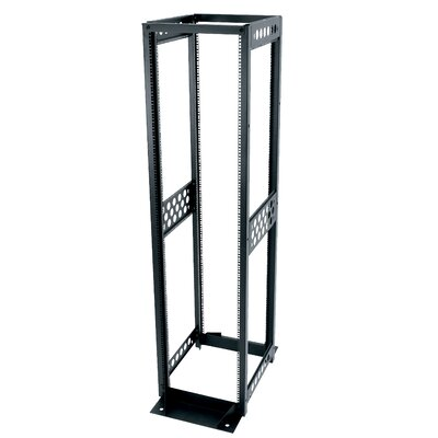 "Middle Atlantic R4 Series 24"" D Four-Post Open Frame Rack with 12-24 Threaded Rackrail"