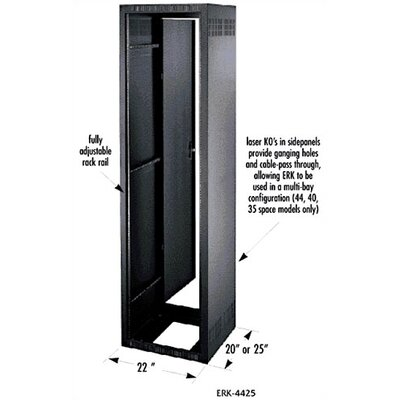 Middle Atlantic ERK Series 20&quot; D Stand Alone/Gangable Rack Enclosure