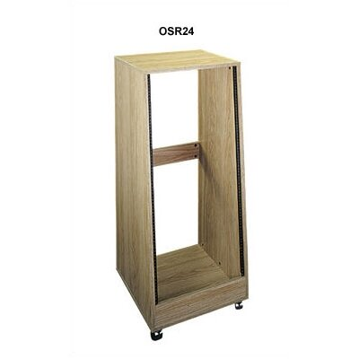 Middle Atlantic OSR Series Sloped Oak Laminate Rolling Equipment Racks