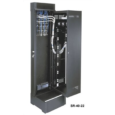 "Middle Atlantic SR Series Pivoting Wall Mount Rack, 40 Rackspaces, 30"" D"