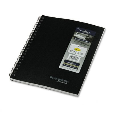 Mead Cambridge 2-Subject Wirebound Business Notebook, Lgl Rule, Ltr, WE, 96pgs                                                    