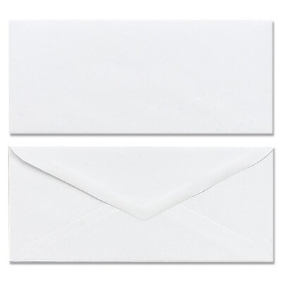 Mead Plain Envelopes, Gummed, No 10, White