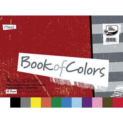 "Mead 48 Sheet 18"" x 12"" Academie Book Of Colors Construction Paper"