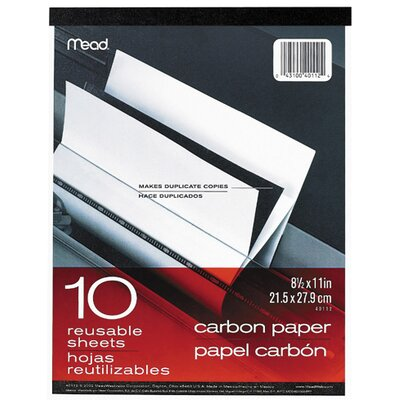 "Mead 10 Count 8.5"" x 11"" Carbon Paper Tablet"