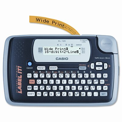 Casio® Label Maker, 1 Lines, 7-1/2W X 4-1/2D X 2-1/5H