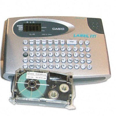 "Casio® KL60SR Compact EZ-Label Maker, 1/2"" Labels"