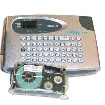 """Casio® KL60SR Compact EZ-Label Maker, 1/2"""" Labels"""