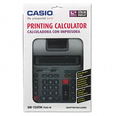 Casio® Printing Calculator, 12-Digit Lcd