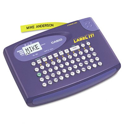 Casio® Label Maker, 2 Lines, 6-5/8W X 4-1/2D X 1-1/16H