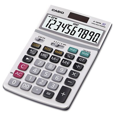 Casio® Desktop Calculator, 4-1/4W X 6-7/8D