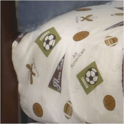 CoCaLo Baby Sports Fan Fitted Sheet