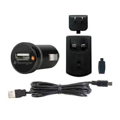 Kensington Car and Wall Charger, Mini/Micro Usb