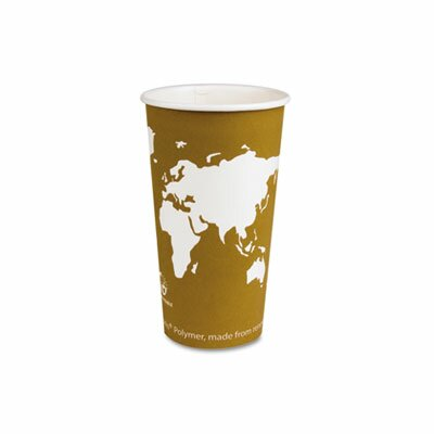 Eco-Products, Inc World Art Renewable Resource Compostable Hot Drink Cups, 20 Oz, 1000/Carton