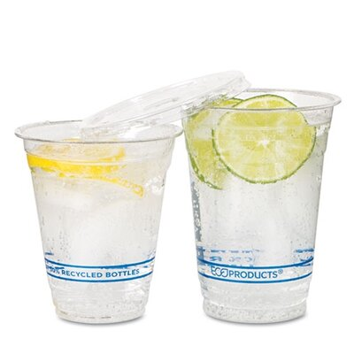 Eco-Products, Inc Bluestripe Recycled Content Cold Drink Cups, 12Oz, 1000/Carton