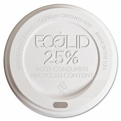 25% Recycled Content Hot Cup Lid (1,000 Pack)