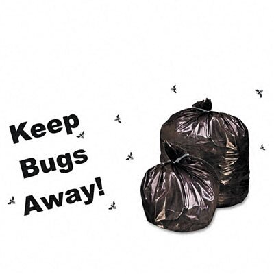 Stout Insect-Repellent Trash Bags, w/Pest-Guard, 30 gal, 2mil, 33 x 40, Black, 90/Ctn