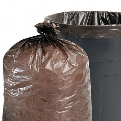 Stout Total Recycled Plastic Trash Garbage Bags, 65 Gal, 1.5Mil, 50X51, 100/Carton