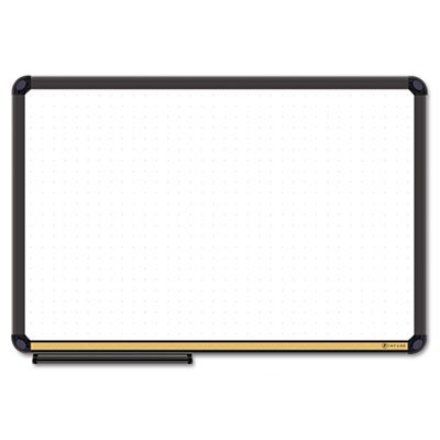 The Board Dudes Dry Erase Board, Cork Inset Frame, 48 x 36, Black