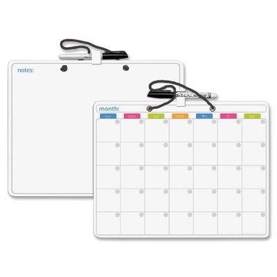 The Board Dudes Double-sided Dorm Size Dry Erase Board