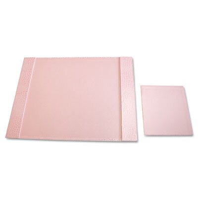 Aurora Products Eco-Friendly Croc Embossed Desk Pads and Mouse Pads, 24 1/2 x 19, Pink