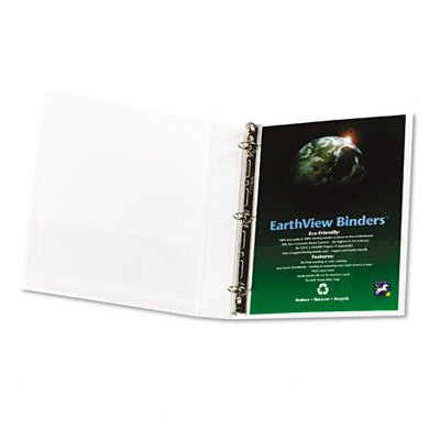 "Aurora Products Earthview Round Ring Presentation Binder, 1"" Capacity"