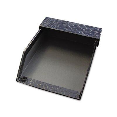 Aurora Products ProFormance Crocodile Memo Tray for 4 x 6 Notes, Black