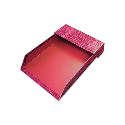 <strong>Aurora Products</strong> ProFormance Letter Tray, Crocodile Pattern, Red, With Roof