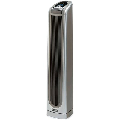 Lasko Space-Saving Pedestal 1,500 Watt Ceramic Tower Electric Space Heater with Logic Center Remote Control