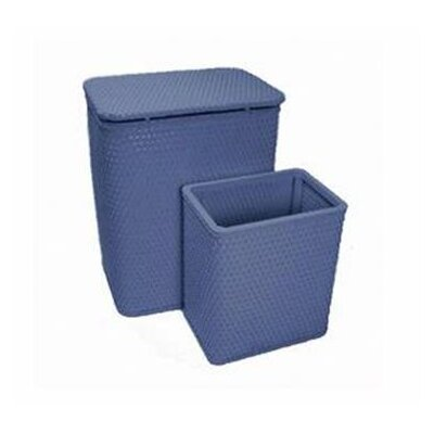 Redmon for Kids Chelsea Pattern Wicker Nursery Hamper and Matching Wastebasket