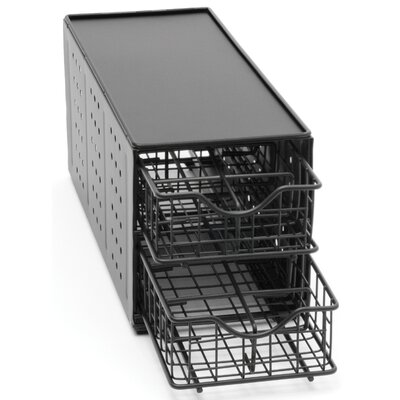 Lipper International 24 Pod Double Drawer Stand