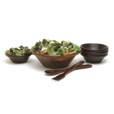 "Lipper International 7 Piece Salad Bowl and 12"" Server Set"