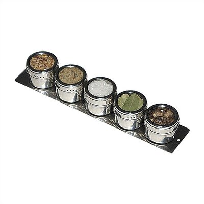 Lipper International Soho 5-Piece Stainless Steel Container and Strip Board Set