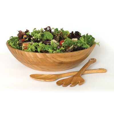 Lipper International Bamboo 3 Piece Salad Set