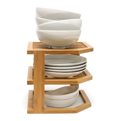 Lipper International Bamboo 3 Tier Corner Shelf