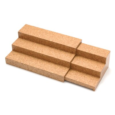 Lipper International Cork Expandable Triple Step Spice Shelf Cork
