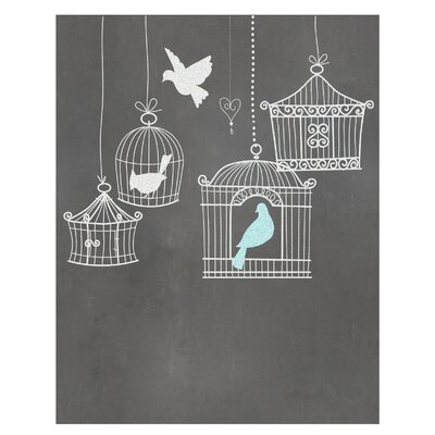 Timi and Leslie Birdcages Art Print
